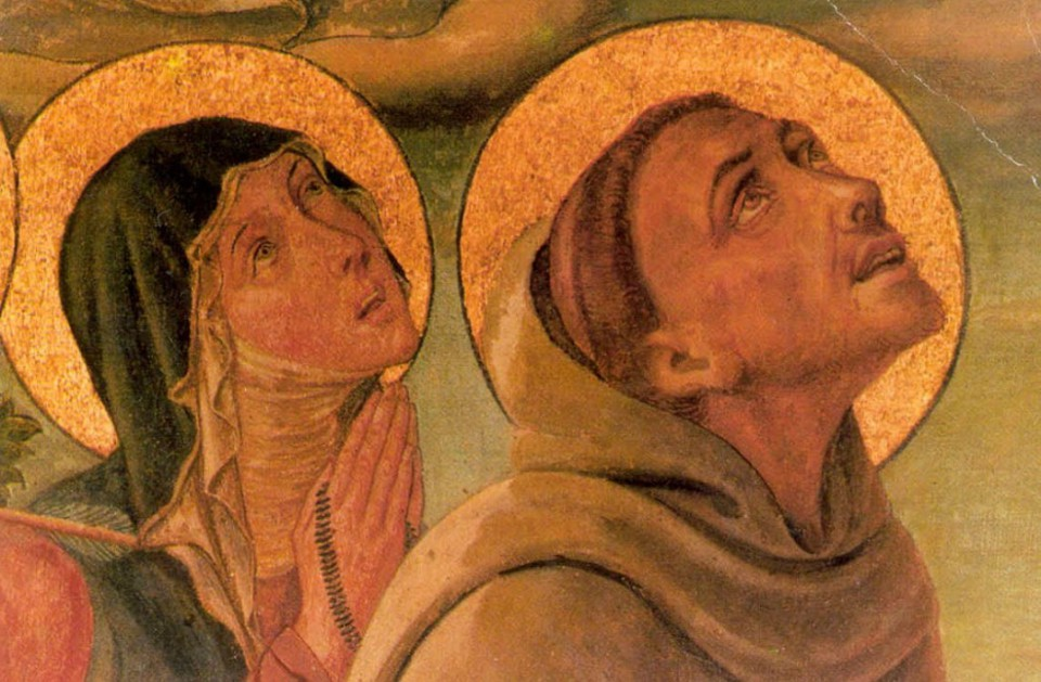 Clare_and_Francis_of_Assisi_Gonfalone_della_Peste_1470